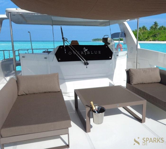 Catamaran Over Reef