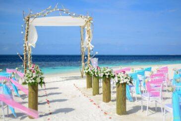 Romantic wedding ceremony in the Maldives