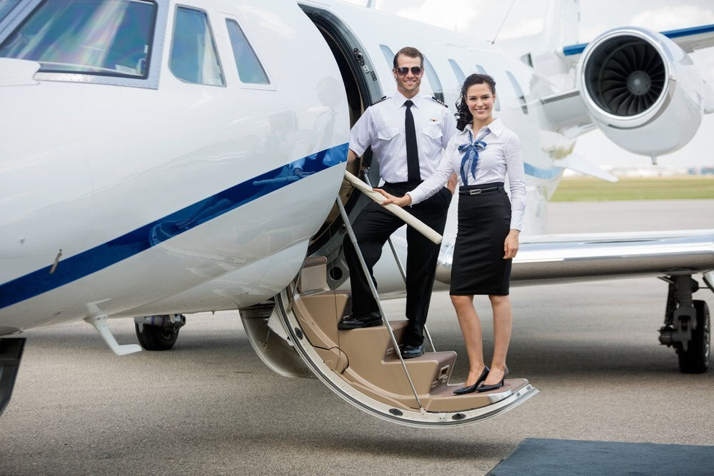 What is the procedure for flying in a private jet?